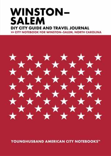 Winston-Salem DIY City Guide and Travel Journal by Younghusband American City Notebooks (ProductiveLuddite.com)