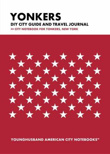 Yonkers DIY City Guide and Travel Journal by Younghusband American City Notebooks (ProductiveLuddite.com)