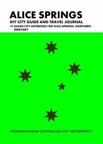 Alice Springs DIY City Guide and Travel Journal by Younghusband Australian City Notebooks (ProductiveLuddite.com)