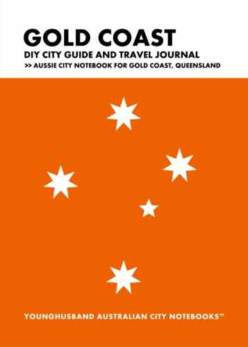 Gold Coast DIY City Guide and Travel Journal by Younghusband Australian City Notebooks (ProductiveLuddite.com)