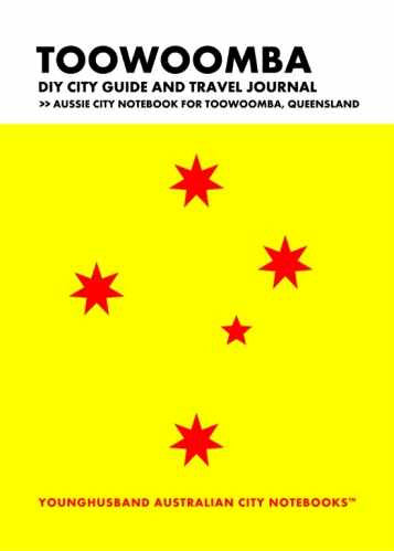 Toowoomba DIY City Guide and Travel Journal by Younghusband Australian City Notebooks (ProductiveLuddite.com)