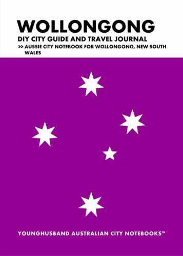Wollongong DIY City Guide and Travel Journal by Younghusband Australian City Notebooks (ProductiveLuddite.com)