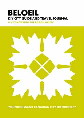 Beloeil DIY City Guide and Travel Journal by Younghusband Canadian City Notebooks (ProductiveLuddite.com)