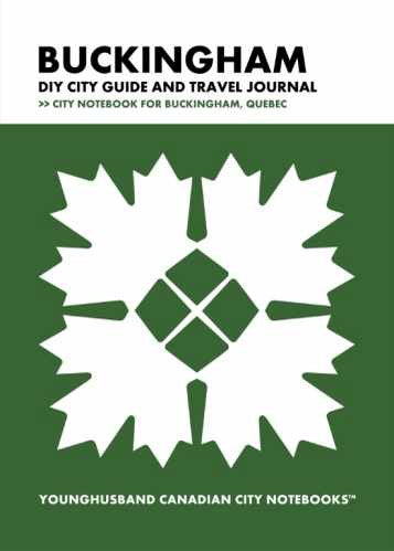 Buckingham DIY City Guide and Travel Journal by Younghusband Canadian City Notebooks (ProductiveLuddite.com)