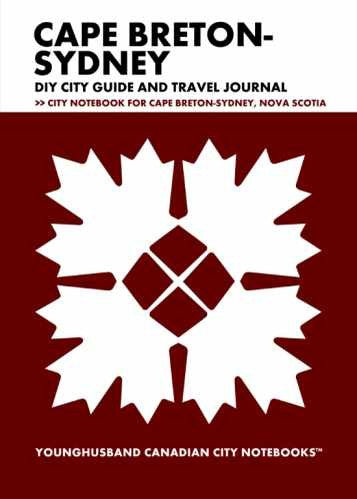 Cape Breton-Sydney DIY City Guide and Travel Journal by Younghusband Canadian City Notebooks (ProductiveLuddite.com)