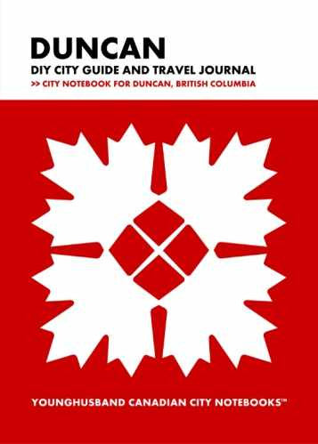Duncan DIY City Guide and Travel Journal by Younghusband Canadian City Notebooks (ProductiveLuddite.com)