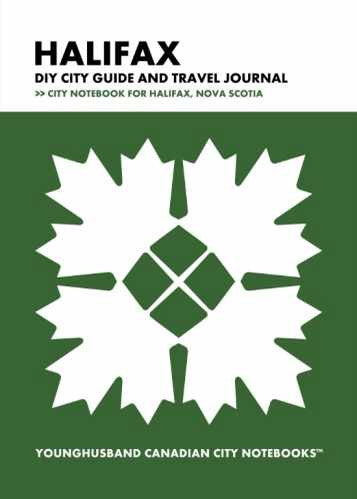 Halifax DIY City Guide and Travel Journal by Younghusband Canadian City Notebooks (ProductiveLuddite.com)