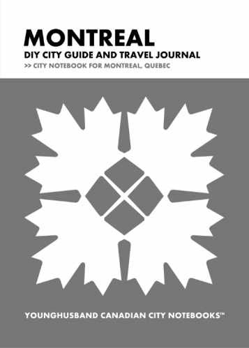 Montreal DIY City Guide and Travel Journal by Younghusband Canadian City Notebooks (ProductiveLuddite.com)