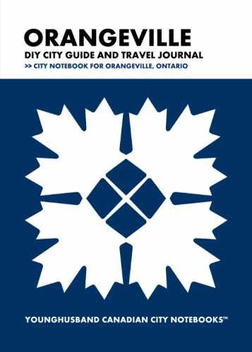 Orangeville DIY City Guide and Travel Journal by Younghusband Canadian City Notebooks (ProductiveLuddite.com)