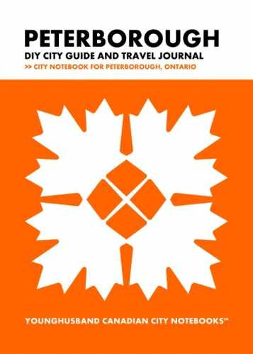 Peterborough DIY City Guide and Travel Journal by Younghusband Canadian City Notebooks (ProductiveLuddite.com)
