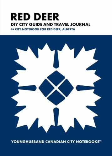 Red Deer DIY City Guide and Travel Journal by Younghusband Canadian City Notebooks (ProductiveLuddite.com)