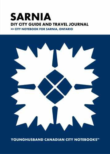 Sarnia DIY City Guide and Travel Journal by Younghusband Canadian City Notebooks (ProductiveLuddite.com)