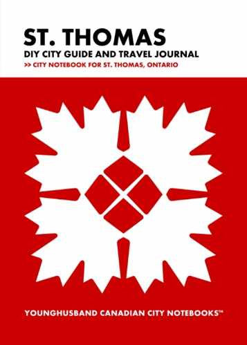 St. Thomas DIY City Guide and Travel Journal by Younghusband Canadian City Notebooks (ProductiveLuddite.com)