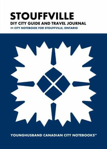 Stouffville DIY City Guide and Travel Journal by Younghusband Canadian City Notebooks (ProductiveLuddite.com)