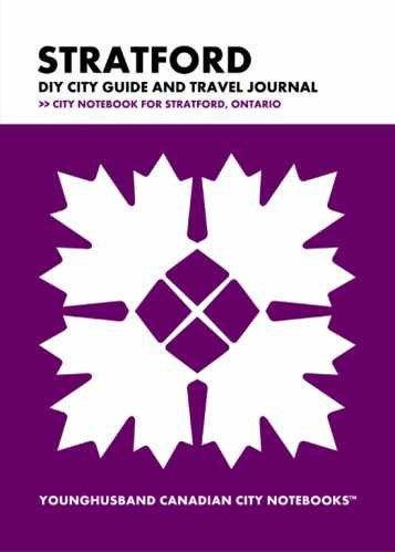 Stratford DIY City Guide and Travel Journal by Younghusband Canadian City Notebooks (ProductiveLuddite.com)