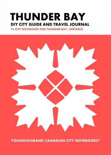 Thunder Bay DIY City Guide and Travel Journal by Younghusband Canadian City Notebooks (ProductiveLuddite.com)