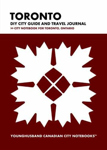 Toronto DIY City Guide and Travel Journal by Younghusband Canadian City Notebooks (ProductiveLuddite.com)