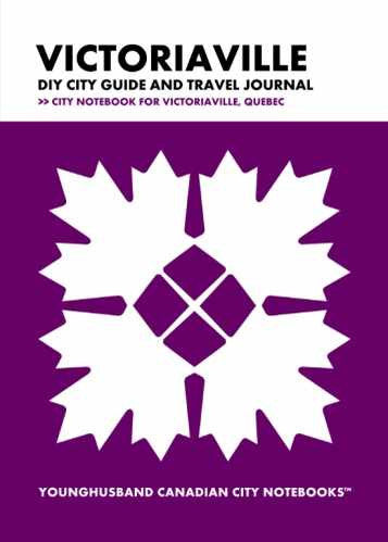 Victoriaville DIY City Guide and Travel Journal by Younghusband Canadian City Notebooks (ProductiveLuddite.com)