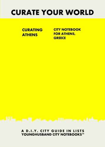 Curating Athens: City Notebook For Athens, Greece by Younghusband City Notebooks (ProductiveLuddite.com)