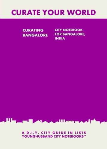 Curating Bangalore: City Notebook For Bangalore, India by Younghusband City Notebooks (ProductiveLuddite.com)