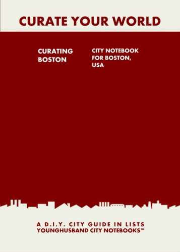 Curating Boston: City Notebook For Boston, USA by Younghusband City Notebooks (ProductiveLuddite.com)