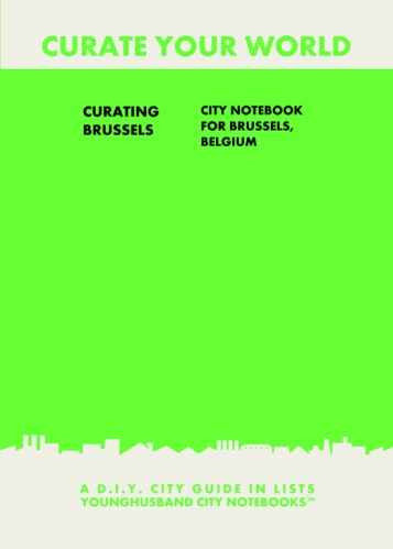 Curating Brussels: City Notebook For Brussels, Belgium by Younghusband City Notebooks (ProductiveLuddite.com)