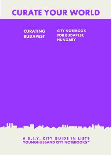 Curating Budapest: City Notebook For Budapest, Hungary by Younghusband City Notebooks (ProductiveLuddite.com)