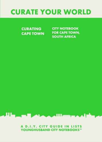 Curating Cape Town: City Notebook For Cape Town, South Africa by Younghusband City Notebooks (ProductiveLuddite.com)