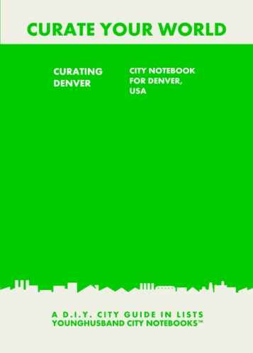 Curating Denver: City Notebook For Denver, USA by Younghusband City Notebooks (ProductiveLuddite.com)