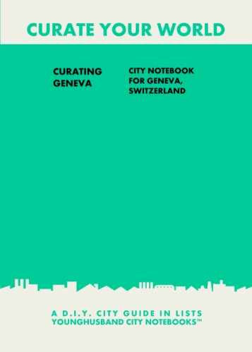 Curating Geneva: City Notebook For Geneva, Switzerland by Younghusband City Notebooks (ProductiveLuddite.com)