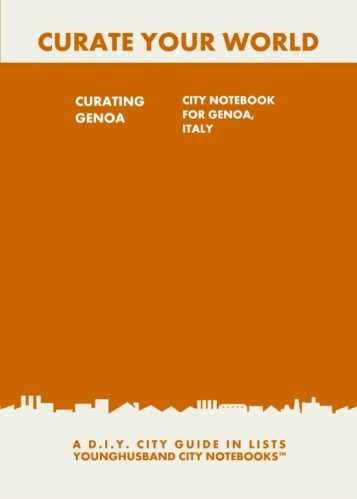 Curating Genoa: City Notebook For Genoa, Italy by Younghusband City Notebooks (ProductiveLuddite.com)