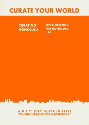 Curating Honolulu: City Notebook For Honolulu, USA by Younghusband City Notebooks (ProductiveLuddite.com)