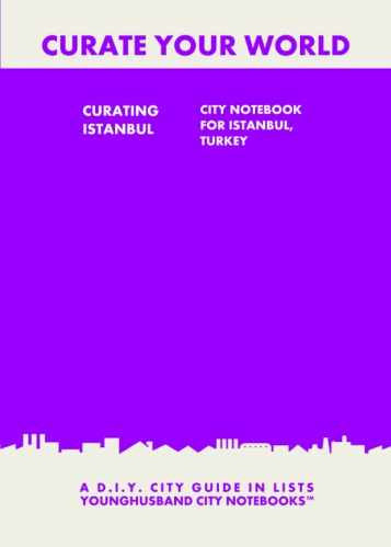 Curating Istanbul: City Notebook For Istanbul, Turkey by Younghusband City Notebooks (ProductiveLuddite.com)