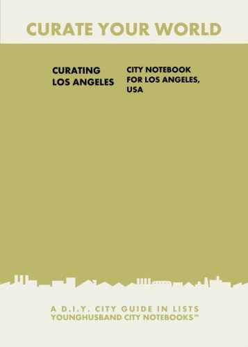 Curating Los Angeles: City Notebook For Los Angeles, USA by Younghusband City Notebooks (ProductiveLuddite.com)