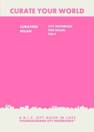 Curating Milan: City Notebook For Milan, Italy by Younghusband City Notebooks (ProductiveLuddite.com)