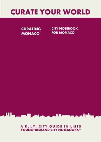 Curating Monaco: City Notebook For Monaco by Younghusband City Notebooks (ProductiveLuddite.com)