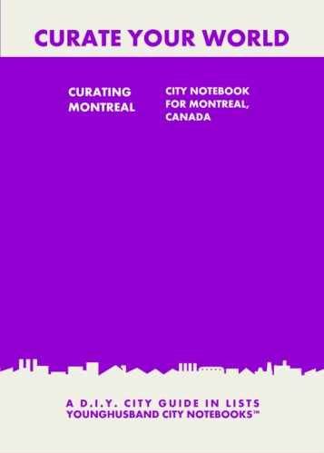 Curating Montreal: City Notebook For Montreal, Canada by Younghusband City Notebooks (ProductiveLuddite.com)