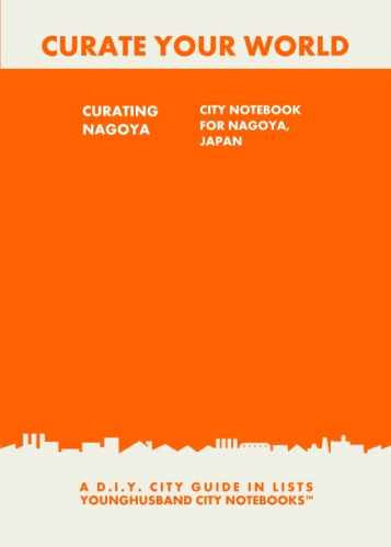 Curating Nagoya: City Notebook For Nagoya, Japan by Younghusband City Notebooks (ProductiveLuddite.com)