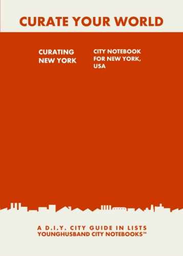 Curating New York: City Notebook For New York, USA by Younghusband City Notebooks (ProductiveLuddite.com)