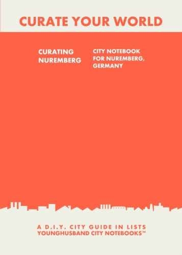 Curating Nuremberg: City Notebook For Nuremberg, Germany by Younghusband City Notebooks (ProductiveLuddite.com)