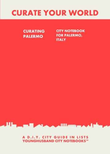 Curating Palermo: City Notebook For Palermo, Italy by Younghusband City Notebooks (ProductiveLuddite.com)