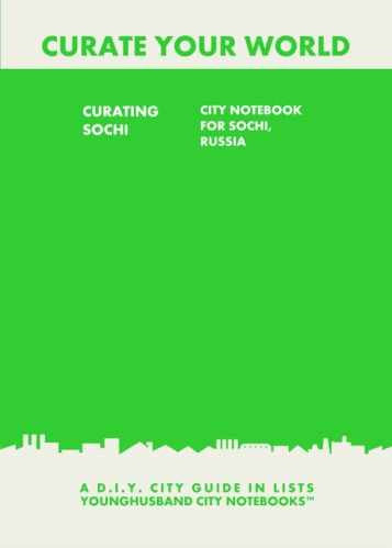 Curating Sochi: City Notebook For Sochi, Russia by Younghusband City Notebooks (ProductiveLuddite.com)