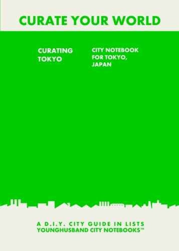 Curating Tokyo: City Notebook For Tokyo, Japan by Younghusband City Notebooks (ProductiveLuddite.com)
