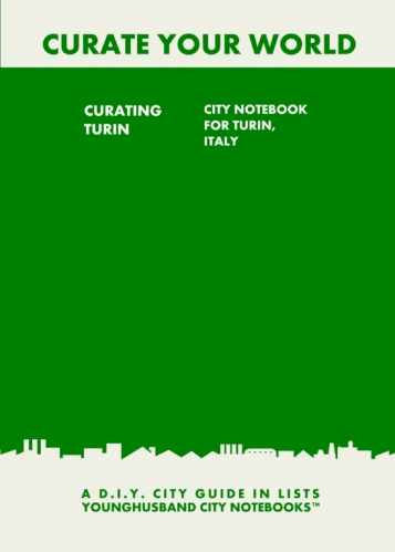 Curating Turin: City Notebook For Turin, Italy by Younghusband City Notebooks (ProductiveLuddite.com)