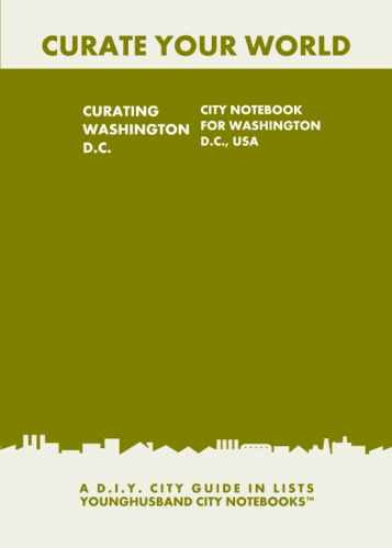 Curating Washington D.C.: City Notebook For Washington D.C., USA by Younghusband City Notebooks (ProductiveLuddite.com)
