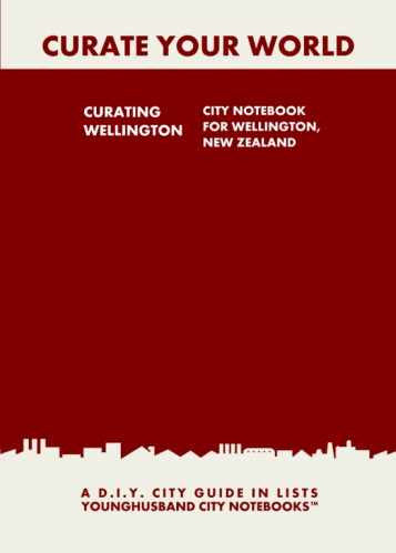 Curating Wellington: City Notebook For Wellington, New Zealand by Younghusband City Notebooks (ProductiveLuddite.com)