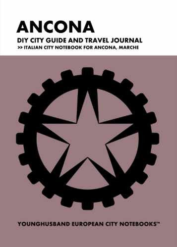Ancona DIY City Guide and Travel Journal by Younghusband European City Notebooks (ProductiveLuddite.com)