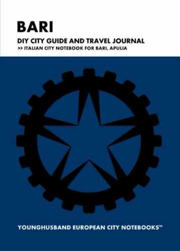 Bari DIY City Guide and Travel Journal by Younghusband European City Notebooks (ProductiveLuddite.com)