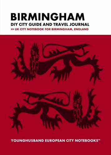 Birmingham DIY City Guide and Travel Journal by Younghusband European City Notebooks (ProductiveLuddite.com)