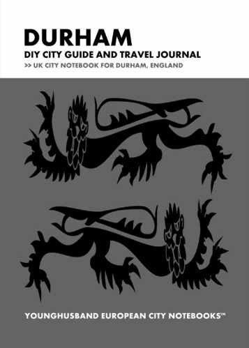Durham DIY City Guide and Travel Journal by Younghusband European City Notebooks (ProductiveLuddite.com)